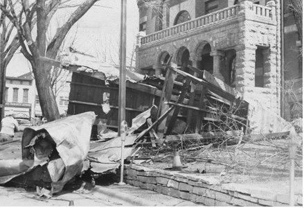 old photo clock tower falls