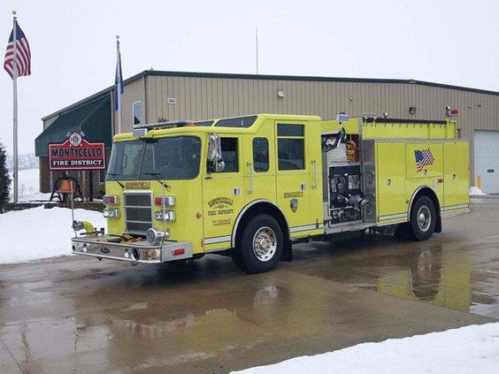 monticello fire truck