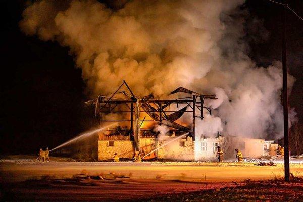 Monticello Barn Fire