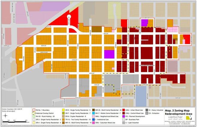 RDA map zoning