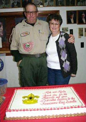 Rob Karla and cake