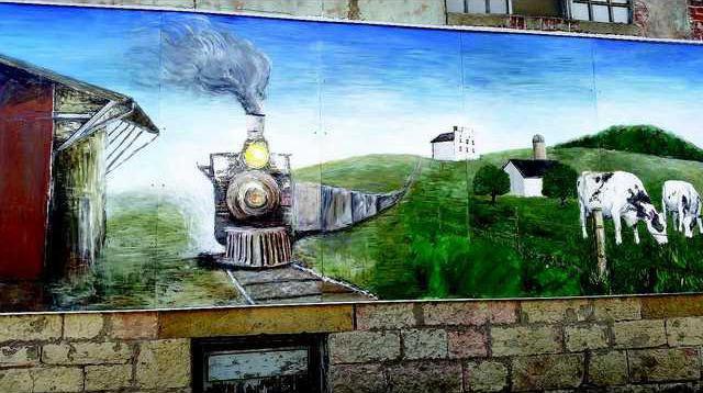 Belmont mural