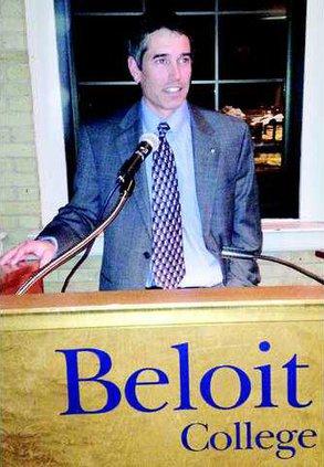 Tim delivers keynote at Beloit College 2-23-2013