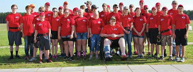 Michael with team at state