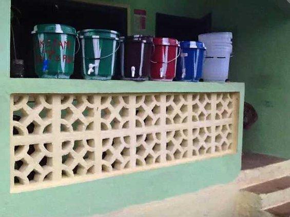 bottles cans hygiene liberia