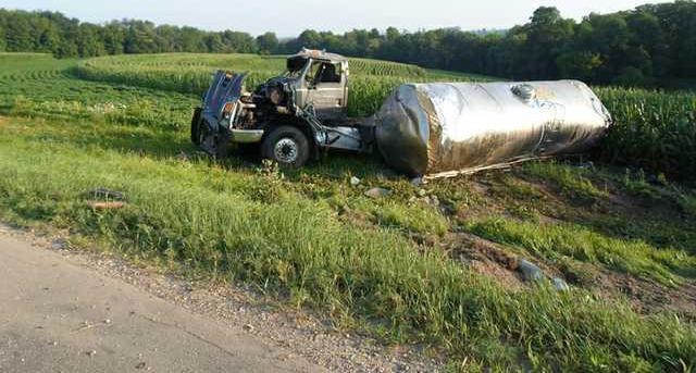 milk truck rollover