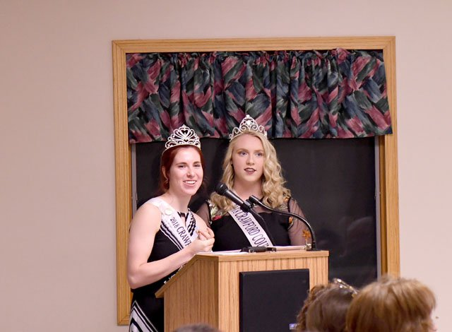 2018 Dairy Princesses Rachel Kramer and Caitlin Nolan
