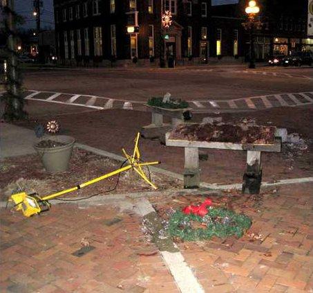 Sculptures destroyed