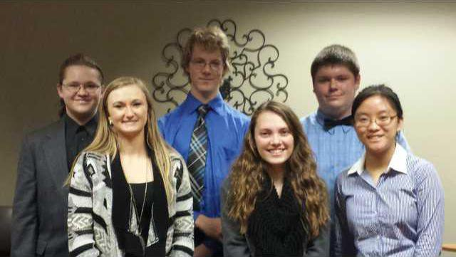 Pictured are the 2015 Oratorical Contestants. Quinn Collins Emma Buss Declan Crego Rachel Burkhard Darrell Waugh Lucy Tian