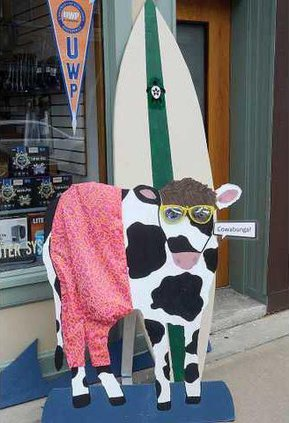 1 surfing cow
