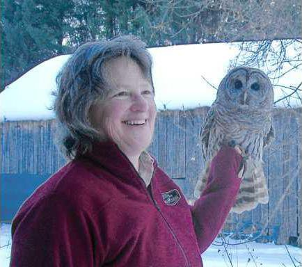 Maggie with owl