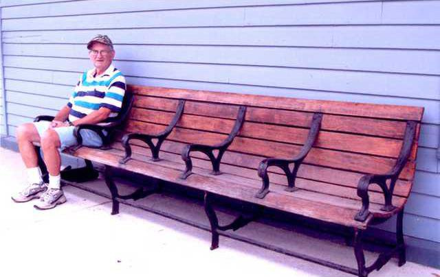 Railroad bench