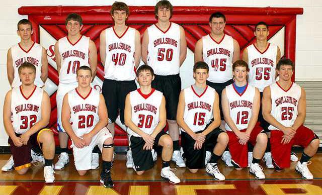 Shullsburg boys basketball team