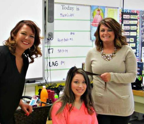 beauticians on career day