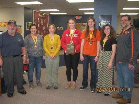 winning RCHS team