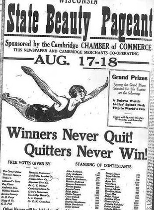 1933 Miss Wisconsin ad