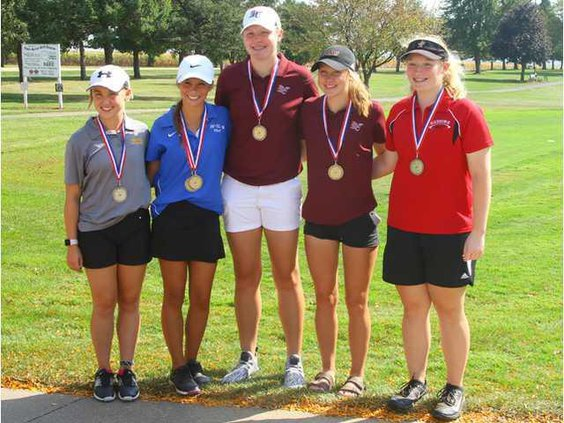 2017 All-Conf girls-golfers