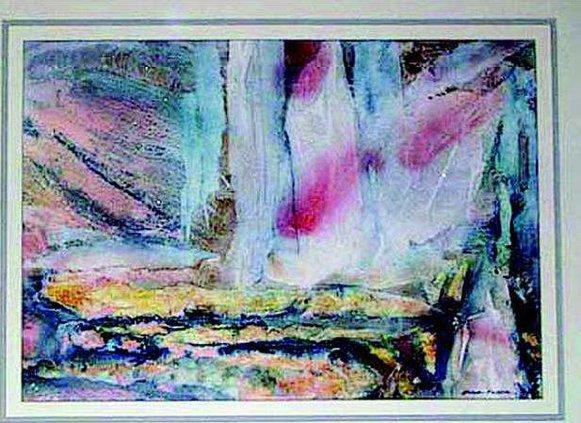 SAMPLE abstract Watercolor catamaran by Gloria Fuller