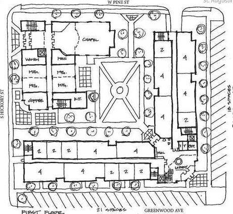 St Augustine block plan