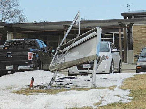 hillsboro schools reader sign damaged