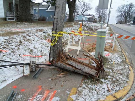 westby utility pole damage