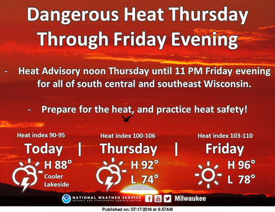 Heat advisory 2019-07-17