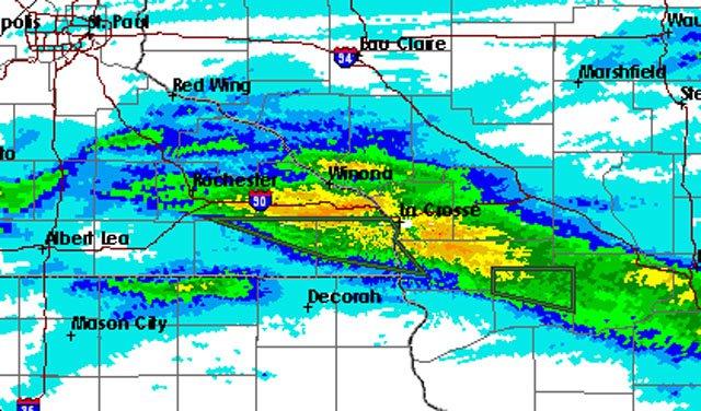 July 19 storm radar map