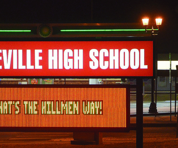 Platteville High School sign