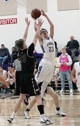 Juda's Royce Brauer goes up for a shot