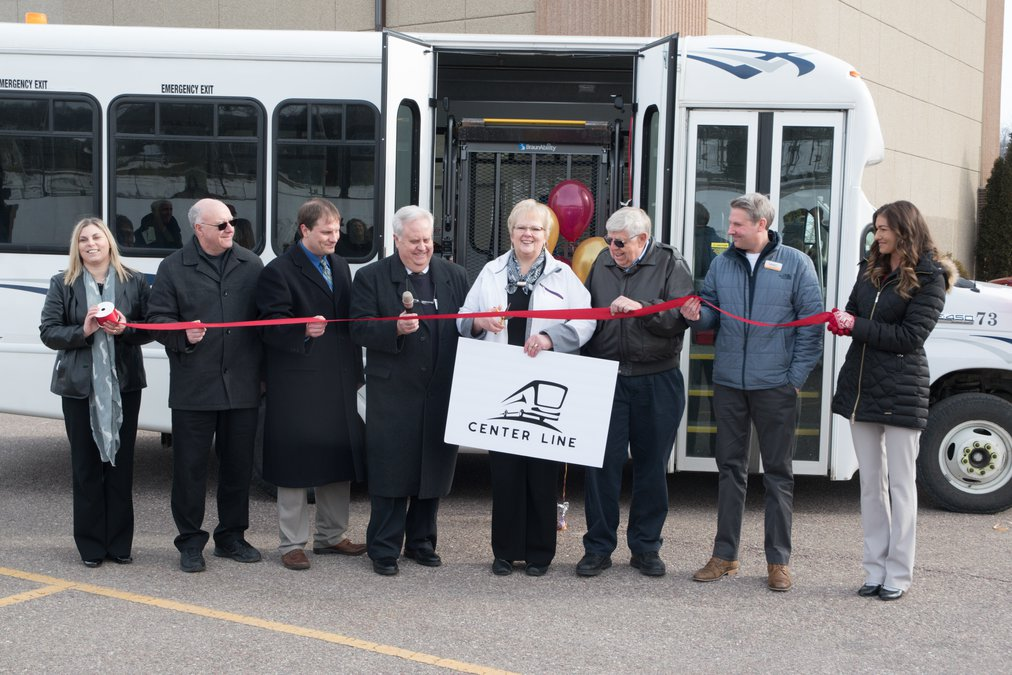 Christmas 2020 Michael Compton Ribbon cut for the new Center Line bus service   SWNews4U