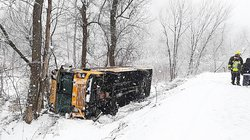 School Bus crashes on Rhein Hollow