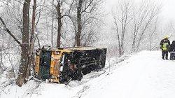 School Bus crashes on Rhein Hollow