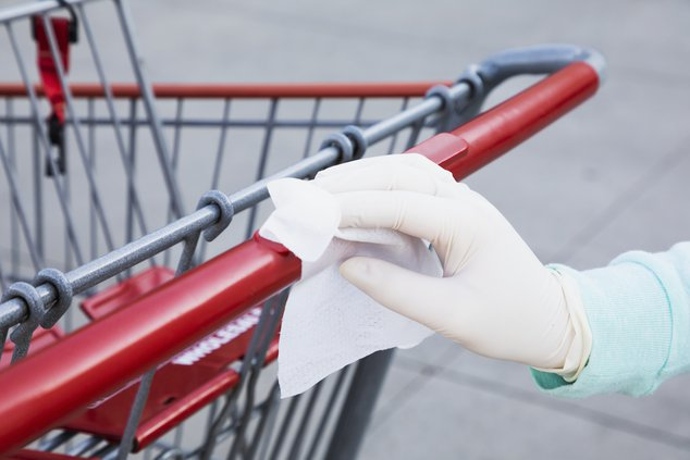 covid sanitize shopping cart