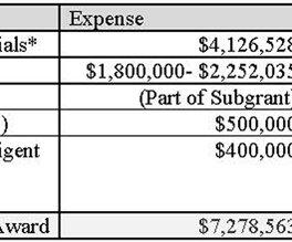 WEC CARES Grant budget