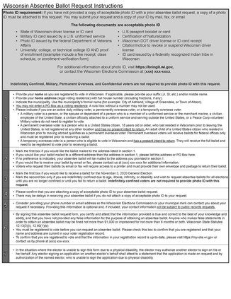 Absentee Ballot mailing application page two