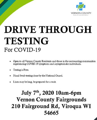 Vernon testing at fairgrounds in July