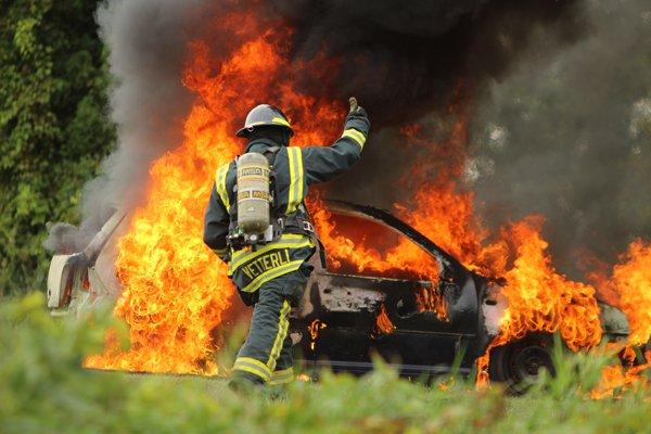 Juda fire car