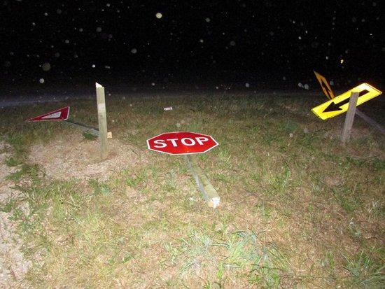 traffic signs cut