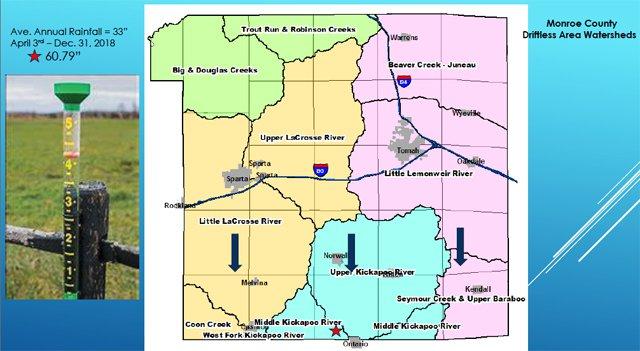 Monroe County rainfall amounts