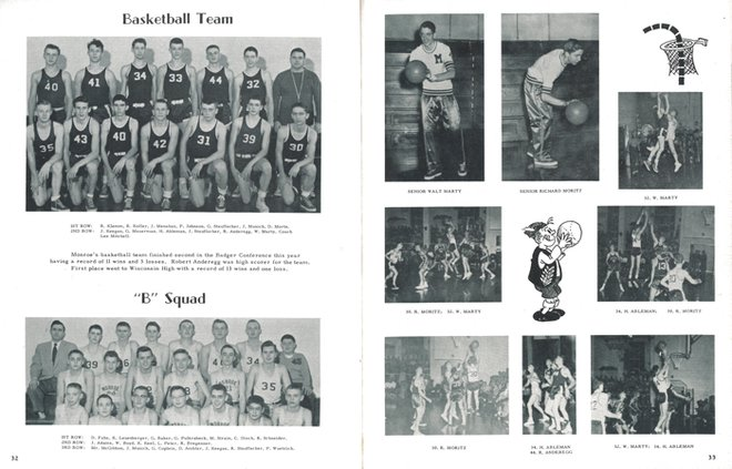 Monroe High School 1954 year book