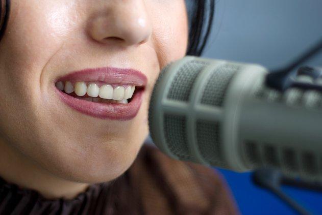 radio microphone mic stock