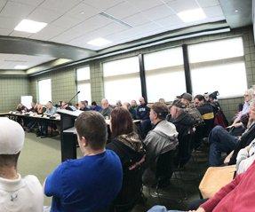 Crowd at Dec 2019 CC BOS meeting
