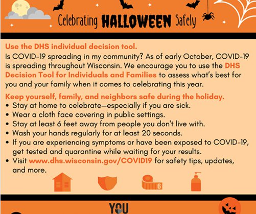 COVID Halloween graphic