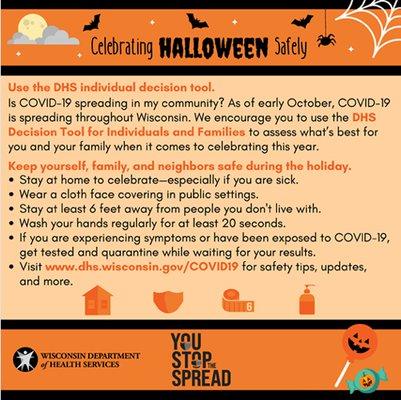 COVID Halloween graphic