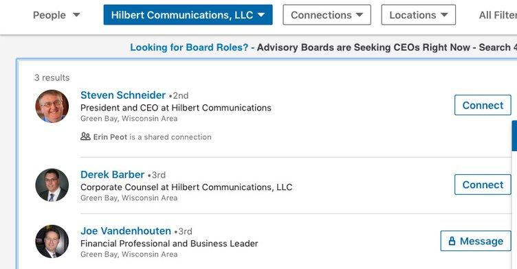 Hilbert Communications LLC - Steve Schneider CEO
