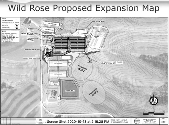 Wild Rose Dairy expansion map
