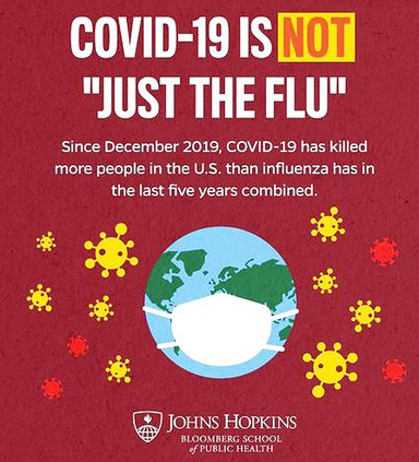 """COVID is not """"just the flu"""""""