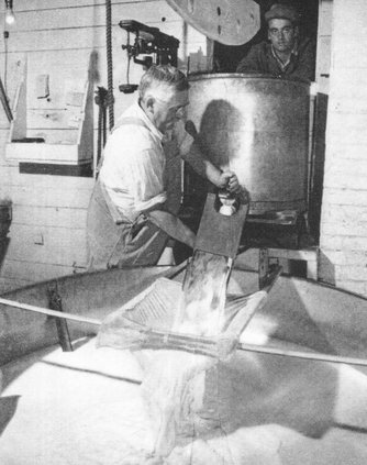 cheesemaking old photo