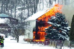 Boscobel_fire destroys rural home