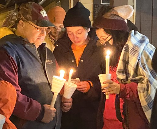 Vigil in Blue River for house fire victims
